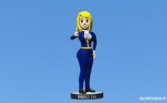 Vault Boy が Vault Girl になるボブルヘッド置き換えMOD