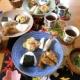 秋のおにぎり和ンプレート と 懐かしの駄菓子