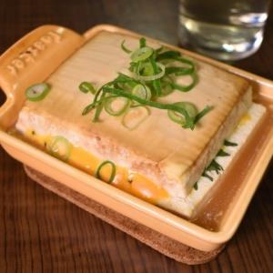 じっくり焼いて濃厚に♪木綿豆腐のチーズ挟み焼き