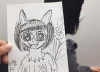 加藤美南画伯が描いた高倉萌香ちゃんをご覧ください・・・