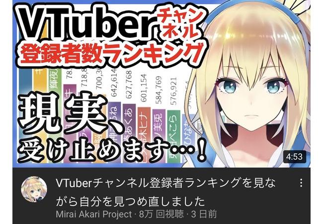 【悲報】Vtuberミライアカリさん、とんでもない自虐動画を出す