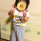 『あーちゃんは1歳10ヶ月両手でピースが何回もできるようになりました!』の画像