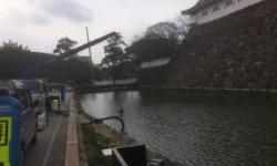 【福岡】 池「堀」の水ぜんぶ抜く大作戦開始か小倉城
