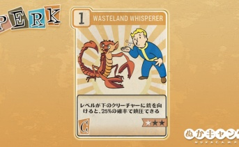 Fallout 76:Wasteland Whisperer(Charisma)