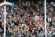 【画像】サモア戦の会場で旭日旗! でも全く話題にならずw やっぱ韓国のいない大会は清々しいなw