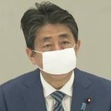 『【安倍首相】布マスク着用』の画像