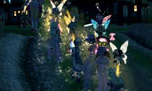 「フローラと戯れ隊」雷雨の決行、妖精と鱗粉