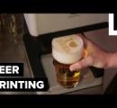 ビールの泡アート。米で開発のプリンター、ビールの泡に文字や絵