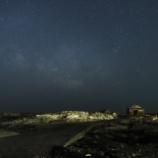 『梅雨の合間に天の川 - 岩礁に建つ漁師小屋 (1)』の画像