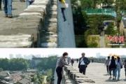 【悲報】中国のおばちゃん  入場料を払いたくなくて万里の長城を登る