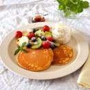 フルーツたっぷりパンケーキ&食事系パンケーキ。~粉が「ばふっ」とならない便利な物~