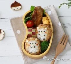 【キャラ弁レシピ動画】コロンとかわいいハリネズミのお弁当