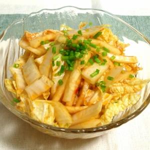 白菜と大根の細切りサラダ