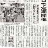 『(日経新聞)公道上のオープンカフェ 大宮駅西口で定期開催 地元商業者ら、まず21日に 13年度6回予定』の画像
