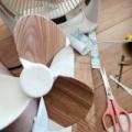 安いサーキュレーターを木目調にしたら異音?カッティングシートで簡単に高級な扇風機になったよ!