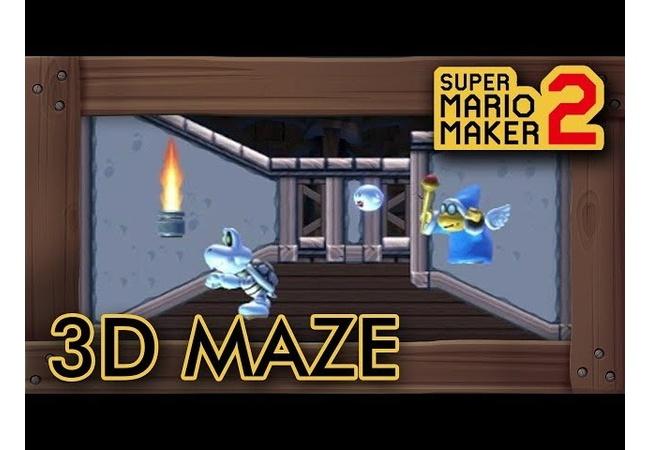 【動画】『マリオメーカー2』3D迷路ステージを作成した日本人ユーザーに世界中が騒然