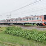 『【留置箇所変更】オレンジ帯4両編成、205系武蔵野線M22&M23編成回送される(1月23日)』の画像