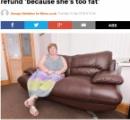ソファが壊れたから返品要求するも、「太りすぎ」を理由に拒否られるwww