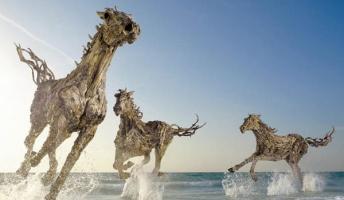 命は作れる?枯れた流木が動物たちの姿に生まれ変わったネイチャーアート