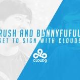 『Cloud9にRush選手とBunnyFuFuu選手の加入が公式発表されました!』の画像