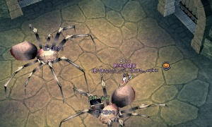 SAOアルビ2段階ダンジョンの巨大白クモで進行不能になるバグwww