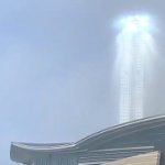 【動画】中国、空が水色に光る奇怪な謎現象が発生!通行人たちもスマホで撮影~!