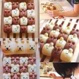 『大人レッスンのちぎりパンと親子レッスン 中級 シナモンロール、トマトバンズ』の画像