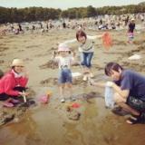 4/16(日)第8回焼肉会 横浜海の公園 潮干狩りとBBQと温泉 参加者14名のサムネイル
