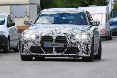 M3も巨大グリルへ 次期BMW M3 3L直6で480ps 9月発表!