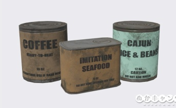 サバイバリスト食品シリーズ(缶コーヒー、イミテーションシーフード、ケイジャンライス&ビーンズ)