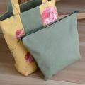 薔薇の花のトートバッグ(バッグインバッグ付き)