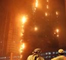 ドバイ近郊の高層マンションで大火災