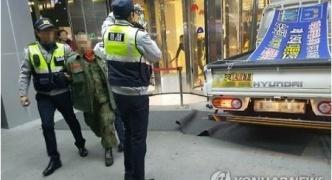 韓国、男がトラックでテレビ局に突入wwwwww