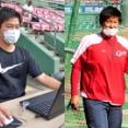 カープ飯田&岩本の新人スコアラー、データ分析でチームに貢献 飯田はラプソードなどハイテク機器で選手のプレー改善
