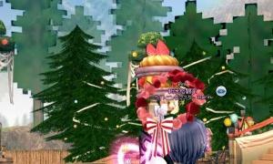 フェスティアの木が一瞬ドットテイストの3Dブロックが溢れる世界のように見える