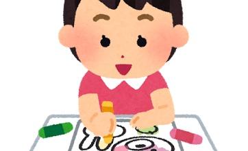 【ヤバイ】娘の塗り絵が芸術的すぎる!wwwww独特の色使い!