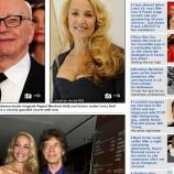 『ミック・ジャガーの元カノがメディア王マードックと交際』の画像