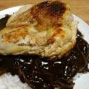 『【今日の夕飯】チキンステーキ その12 @カレー納豆パスタ』の画像