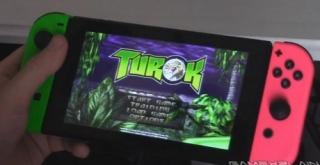 ニンテンドースイッチ版『時空戦士テュロック』の携帯モードのプレイ映像が公開!