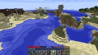 東大陸の岩の上に小さな民家を作る