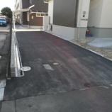 『愛知県一宮市 個人宅 旗竿地における進入路(アプローチ)のアスファルト舗装工事施工例』の画像