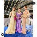 神田うの デヴィ夫人主催のチャリティパーティでゆきぽよと3人、華麗ドレス姿