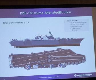 護衛艦「いずも」の仰天空母改造案画像がリーク。アングルドデッキ、カタパルト・・・・w