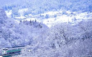 「なかなかいい雰囲気」の雪景色