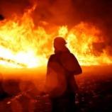 『燃える抗議村:ダコタ・アクセス・パイプライン続報』の画像