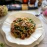 アンチョビバター昆布水でワンパン ほうれん草と生ハムのスパゲッティ