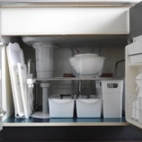 『●キッチンのシンク下収納● 100均グッズを使って、すっきり収納!』の画像