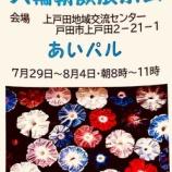 『【イベント】戸田朝顔同好会主催「大輪朝顔展示会」。7月29日から上戸田地域交流センターあいパルにて開催します(8月4日まで)。朝には花開く大輪の朝顔をどうぞご鑑賞ください!』の画像