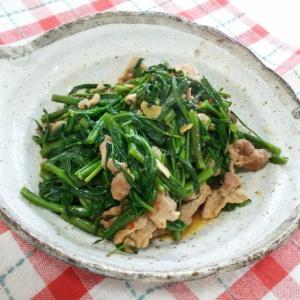 空芯菜と豚肉のピリ辛炒め