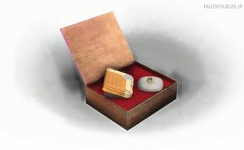 シガーボックスのメモリアルディスプレイ